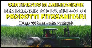 CORSO DI FORMAZIONE PER L'ACQUISTO DEI FITOSANITARI